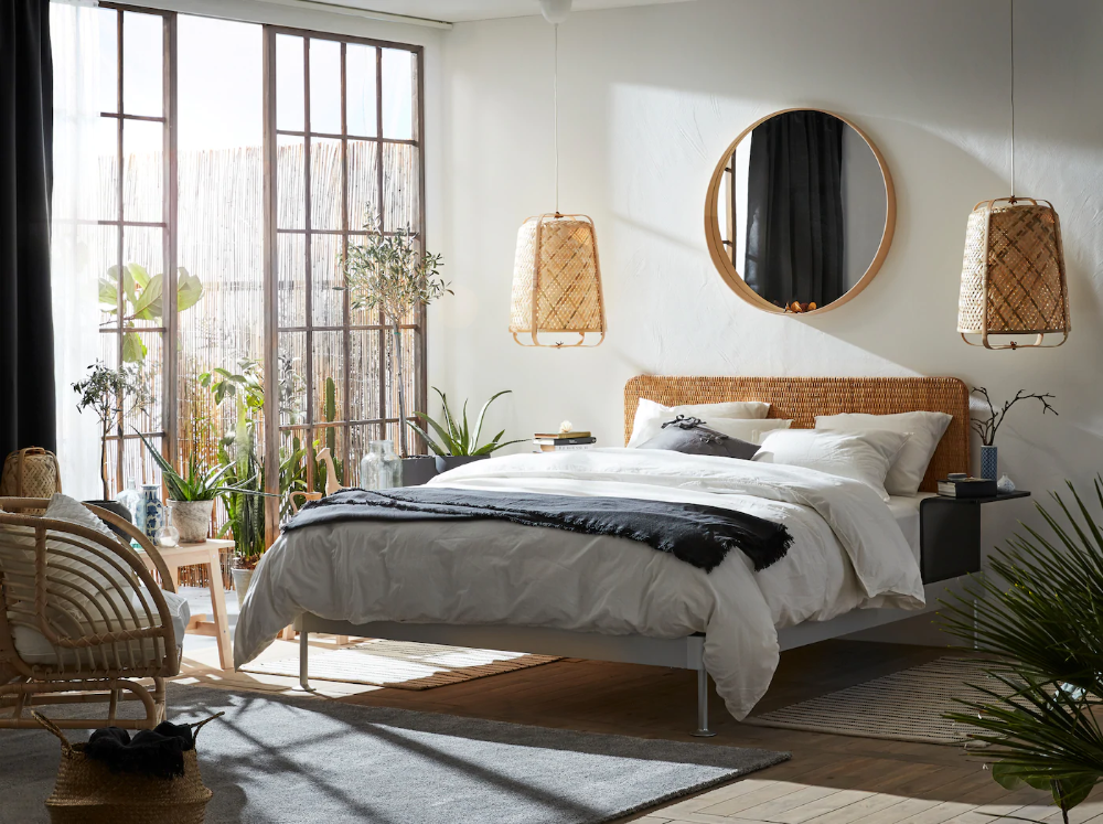 A Bedroom Where Natural Materials Set The Style In 2020 Ikea Bed Frames Ikea Bed Bed Frame