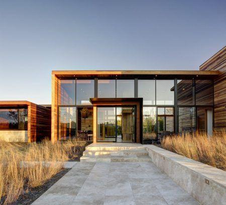 صور واجهات زجاج للفلل والقصور والمباني الضخمة ميكساتك Architecture Interior Architecture Design Modern Wood House