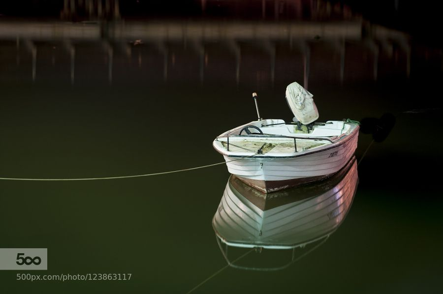 Boat at night by ruffus #fadighanemmd