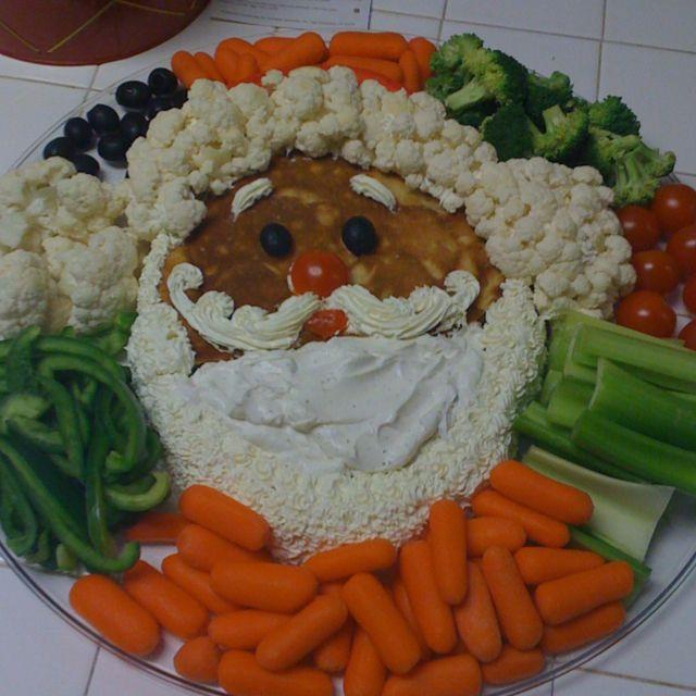 santa veggie tray christmas snacks christmas brunch christmas veggie tray christmas cooking