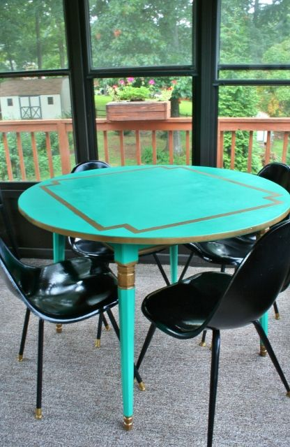 Painting A Laminate Dining Table Emerald And Gold  My Projects Mesmerizing Laminate Dining Room Tables Inspiration Design