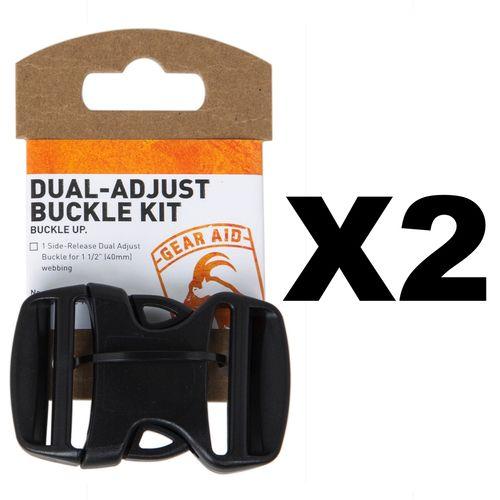 Gear Aid Dual-Adjust Buckle Kit, 1.5 Inch (2-Pack)