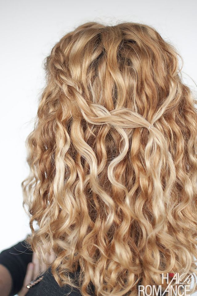 An Easy Half Up Braid Tutorial For Curly Hair Hair Romance Curly Hair Styles Curly Hair Braids Curly Natural Curls