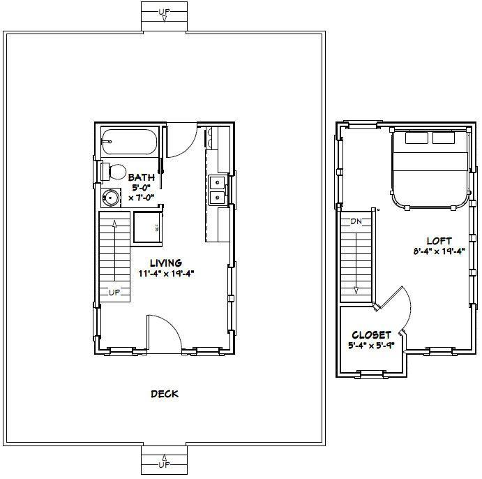 12x20 Tiny House 12x20h3b 464 Sq Ft Excellent Floor Plans Floor Plans Shed Plans Tiny House Floor Plans