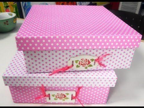 Como Forrar Una Caja De Carton Con Cartulinas Maria Jose Roldan Youtube Cajas Forradas Caja De Zapatos Cajas Decoradas