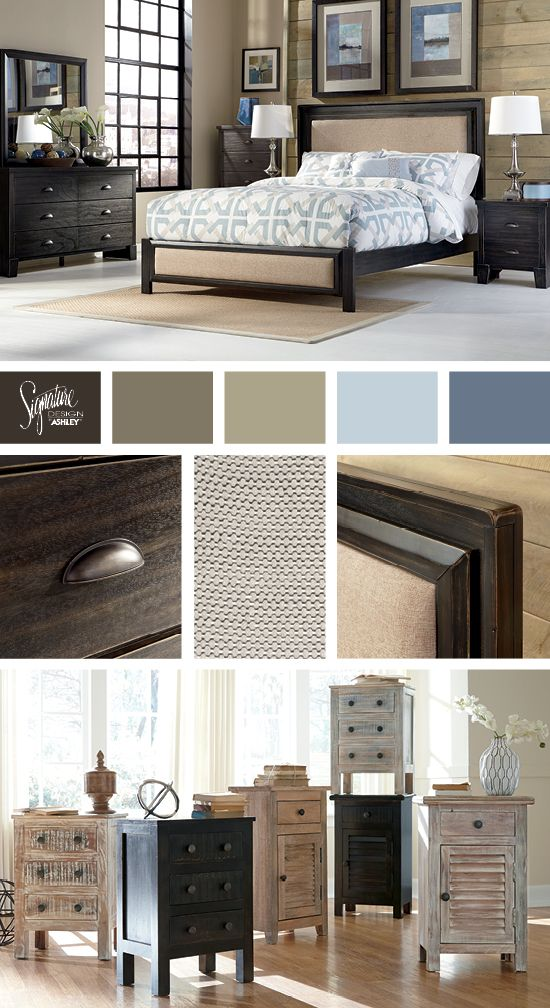 Birstrom Queen Bed   Ashley Furniture · Living Room RedoCozy ...
