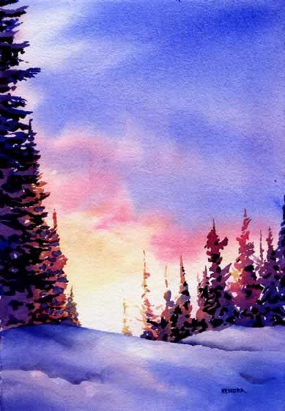 Easy watercolor painting for beginners google search for Watercolor scenes beginners
