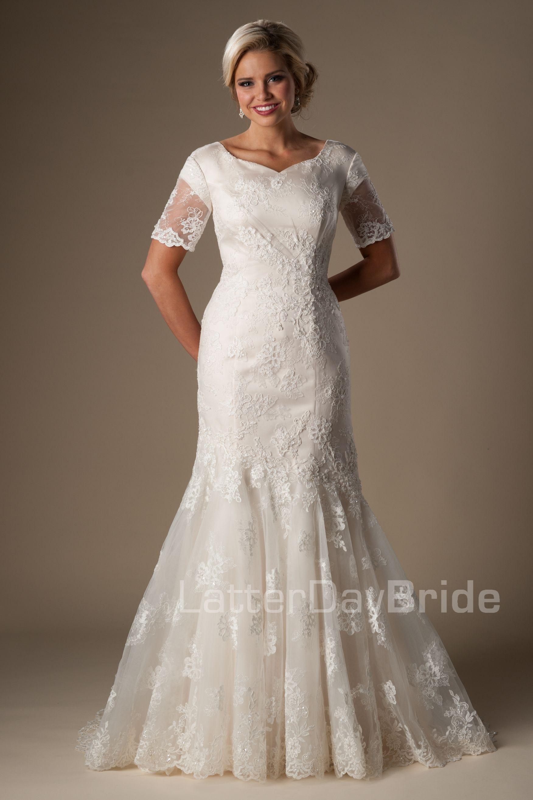 Esperanza Modest Bridal Dresses Modest Wedding Dresses Wedding Dresses [ 2628 x 1752 Pixel ]