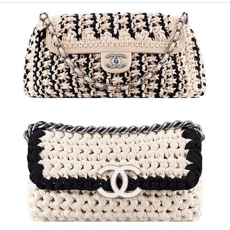 detailed look 815d8 44625 Summer 2014 crochet clutches from Chanel | あみかた | かぎ針 ...