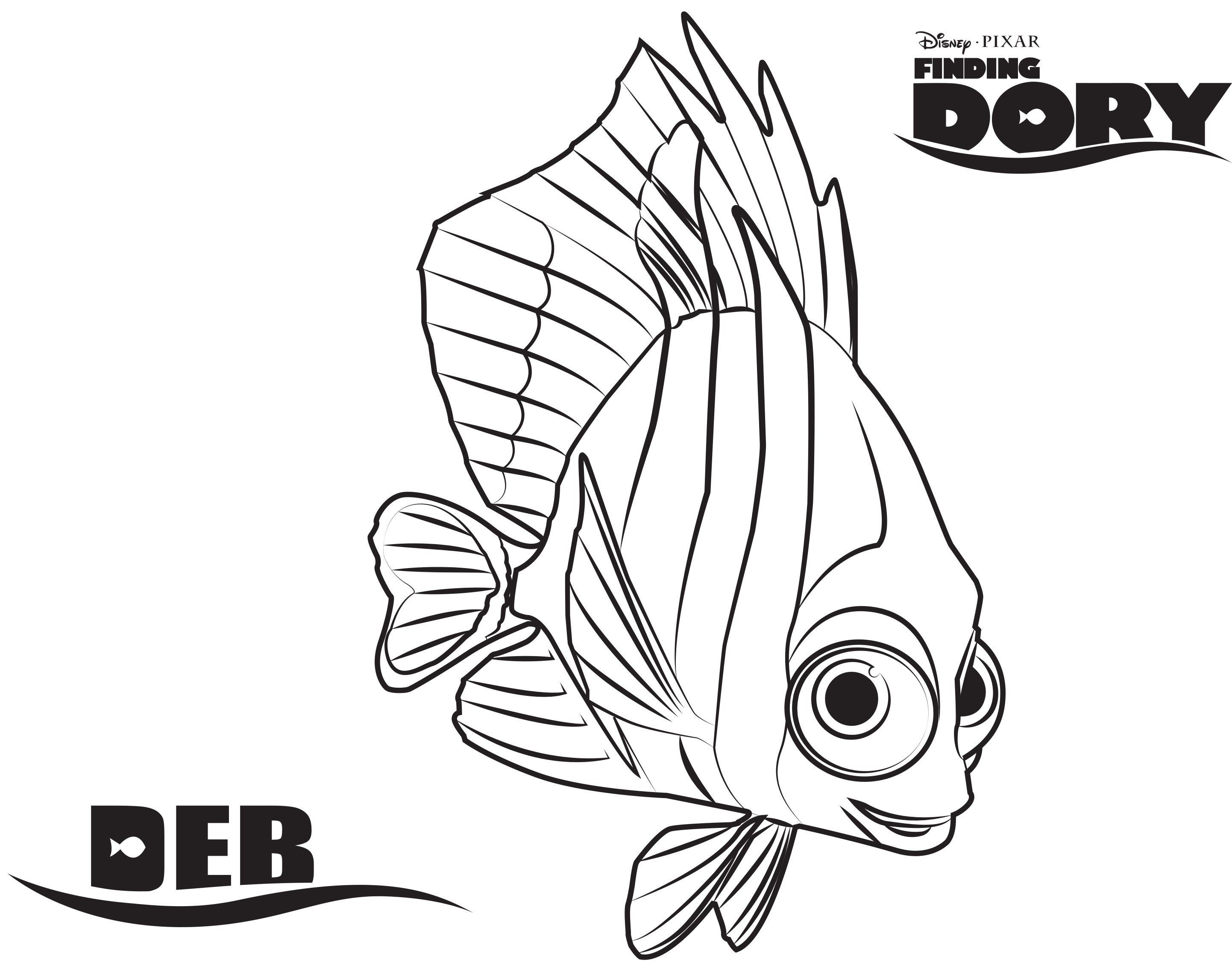Free Printable Finding Dory Coloring Pages