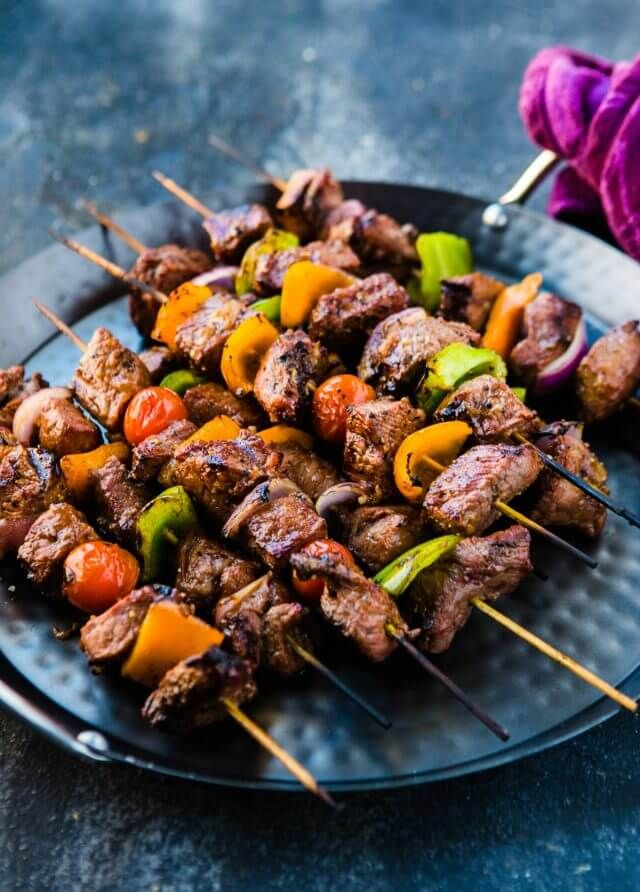 Marinated Beef Shish Kabobs | Recipe | Beef shish kabob, Kebab ...