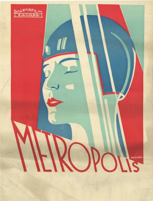 Balkan Film poster, Zagreb, Czechoslovakia, circa 1927. Poster design by Peter Kokjancic.