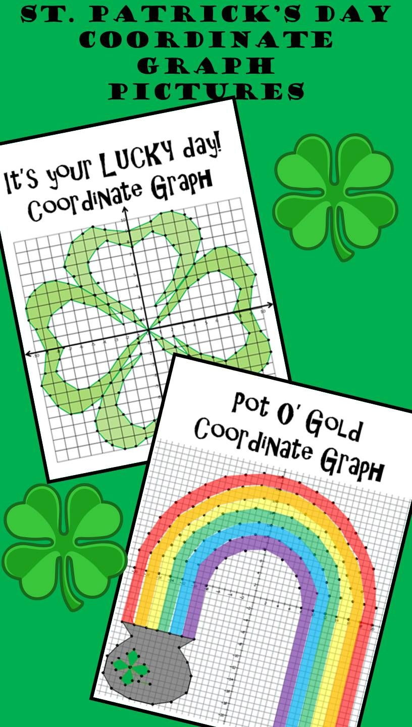 Celebrate St Patrick S Day With This Fun Educational Activity Choose Between A Four Leaf Clover And Coordinate Graphing Coordinate Plane Pictures Graphing [ 1440 x 816 Pixel ]