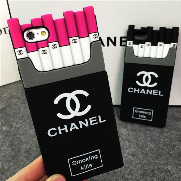 2a0a13f27e0 Chanel iPhone8/7/6S/6/Plus Case Smoking Kills Rose Black | Sketching ...