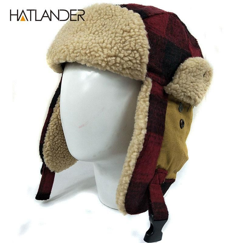 HATLANDER Outdoor earflap bomber hats for men women thick Russian Ushanka  aviator trooper snow ski berber fleece winter hat cap. Yesterday s price   US ... 651352174d5