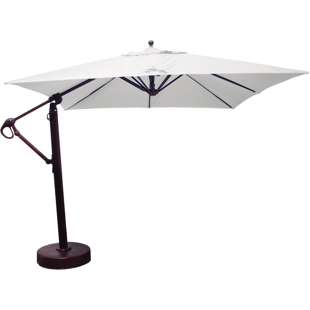 Galtech 10 X 10 Ft Square Aluminum Patio Cantilever Umbrella W Easy Lift And Easy Tilt Wheel Antique Bronze Frame W Sunbrella Canvas Canvas Canopy Cantilever Umbrella Canvas Canopy Aluminum Patio