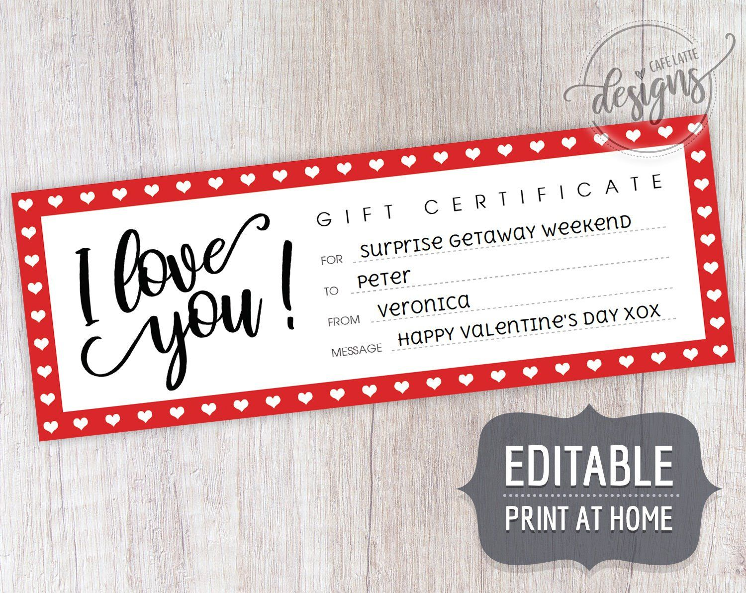 anniversary gift coupon template