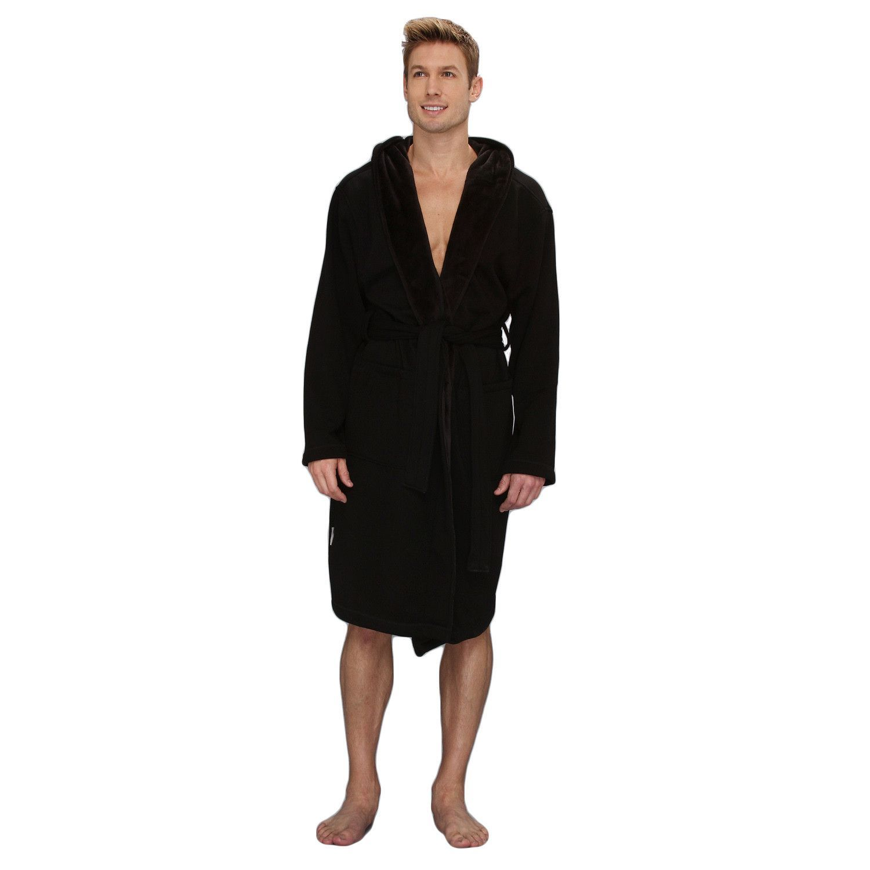 209082ef464 UGG Brunswick Bathrobe Men   Black (UA4099M)   Products   Robe ...