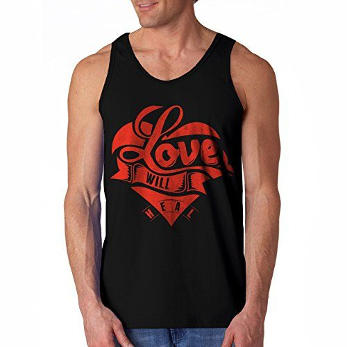 Buy this cool #Tanktop : Wellcoda   Sweet Inspration Love Wil Heal Mens NEW Tank Top Black S. Visit micbear.com Buy now at http://www.micbear.com/shop/tank-top/wellcoda-sweet-inspration-love-wil-heal-mens-new-tank-top-black-s/