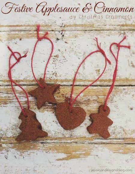 jessicaNdesigns: Festive bricolage compote de pommes et cannelle Décorations de Noël