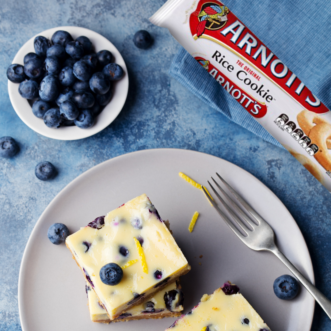 Lemon blueberry cheesecake slice - A recipe by Monash FODMAP|Suitable for people with IBS 		 		 		 		 - Monash Fodmap #lemonblueberrycheesecake