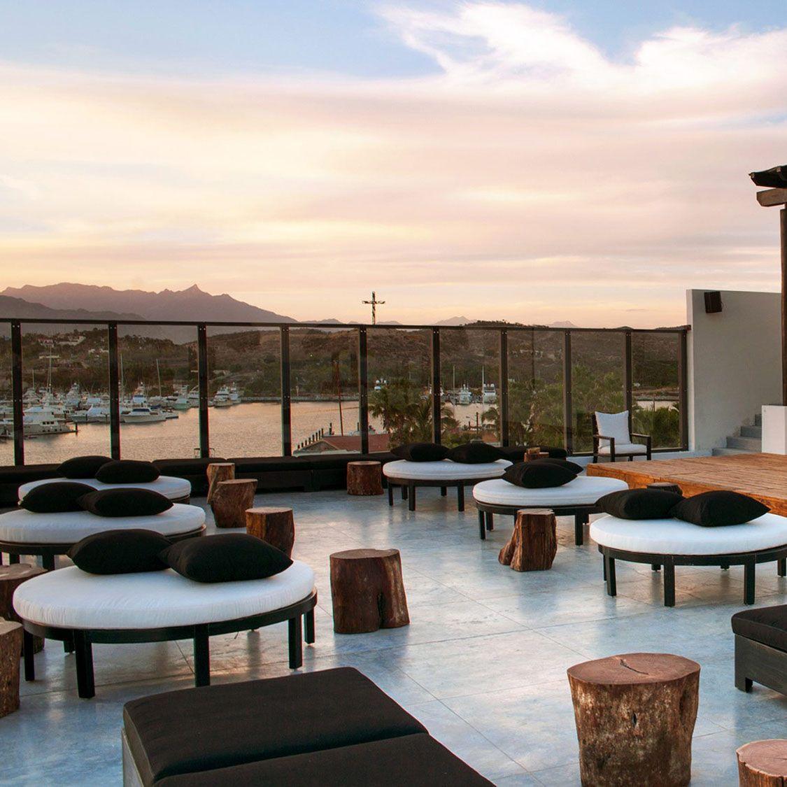 Rooftop Living Room With Sea View Hotel El Ganzo Vossy Com Hotel San Jose Del Cabo