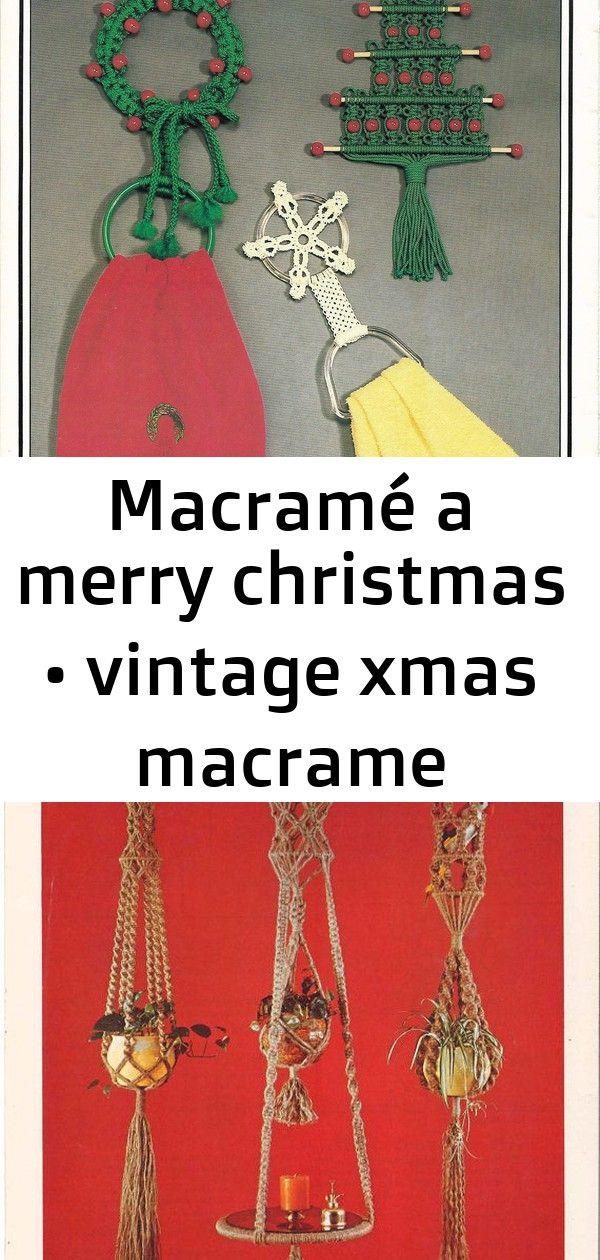 Macramé a merry christmas • vintage xmas macrame pattern book 8 #hangersnowflake