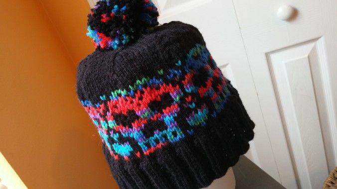 ModernlyVintage.com Rainbow Heartskull Hat