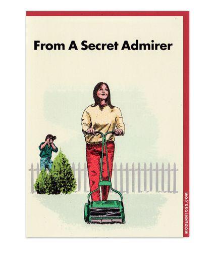 Modern Toss Valentine S Day Card Secret Admirer Moderntoss