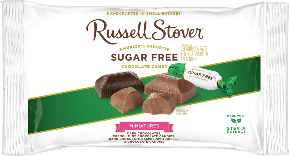 Russell Stover Sugar Free Assorted Miniatures With Stevia 9 Oz Bag Walmart Com Mint Chocolate Candy Sugar Free Chocolate Raspberry