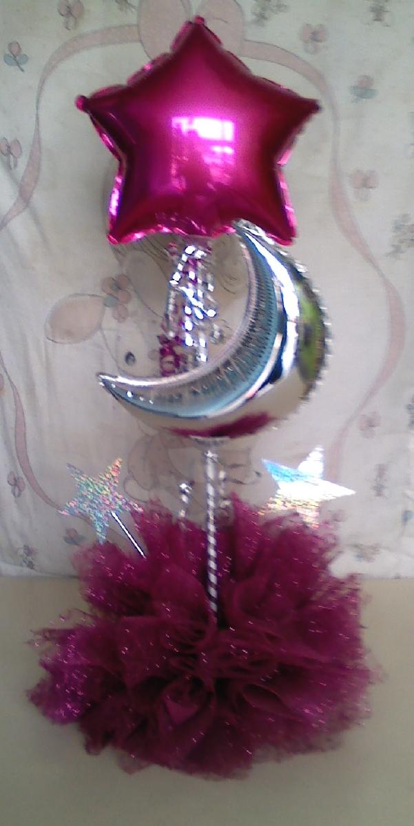 Decoracion de fiestas con tul decoraci n con globos for Decoracion wonder woman