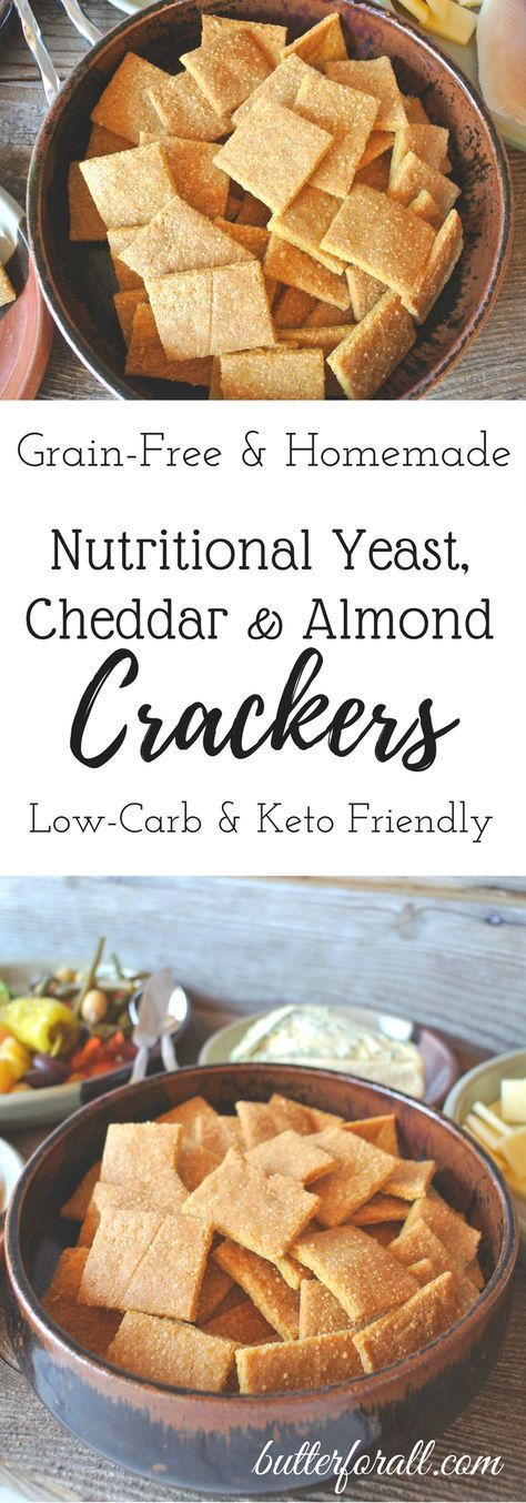 LowCarb Nutritional Yeast Crackers is part of Nutritional yeast recipes - These light and flakey crackers are just right for snacking or serving with your favorite cheeses and dips!