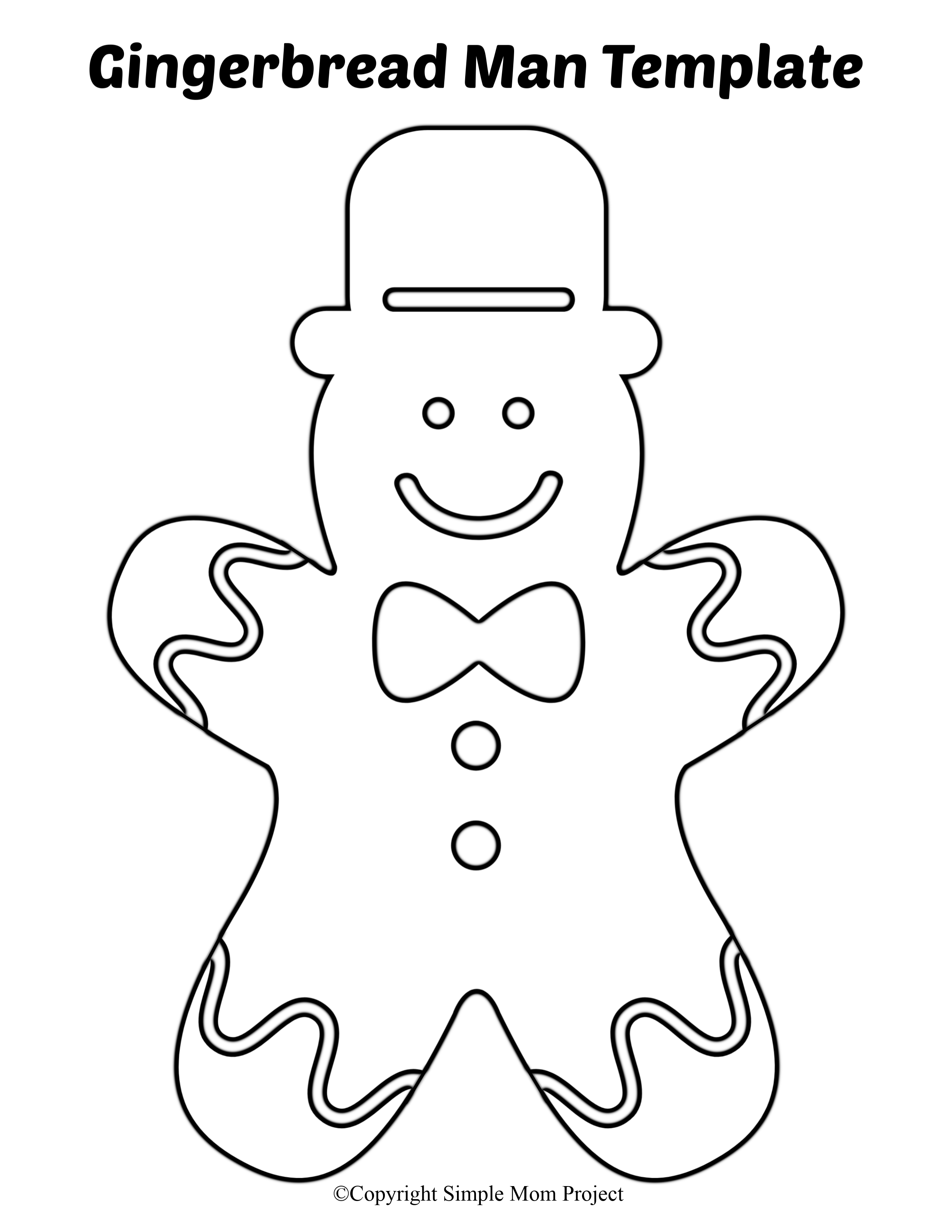 8 Free Printable Large and Small Gingerbread Man Templates ...