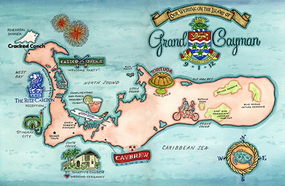 It is a picture of Geeky Printable Map of Grand Cayman
