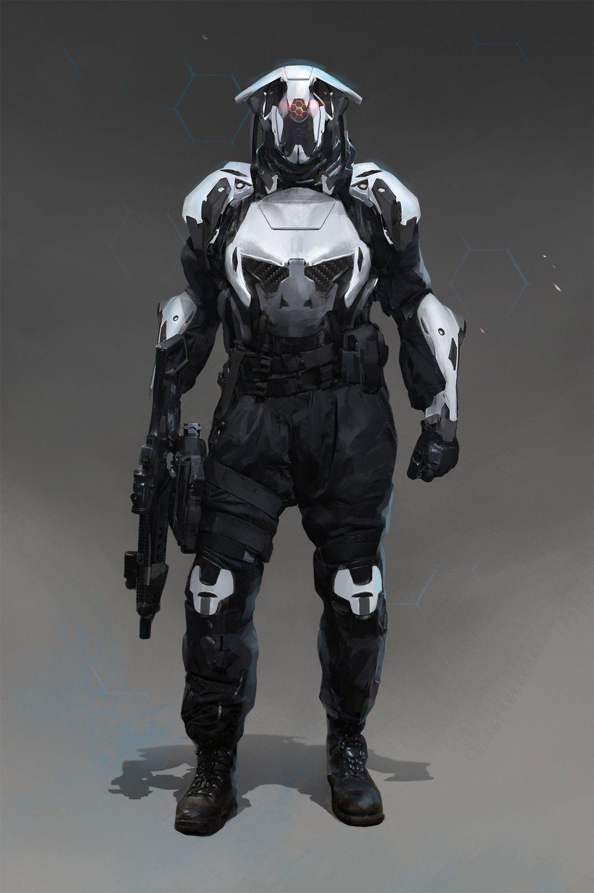 Armure Futuriste artstation - soldier, jacob savidan | costume/armure futuriste | jdr