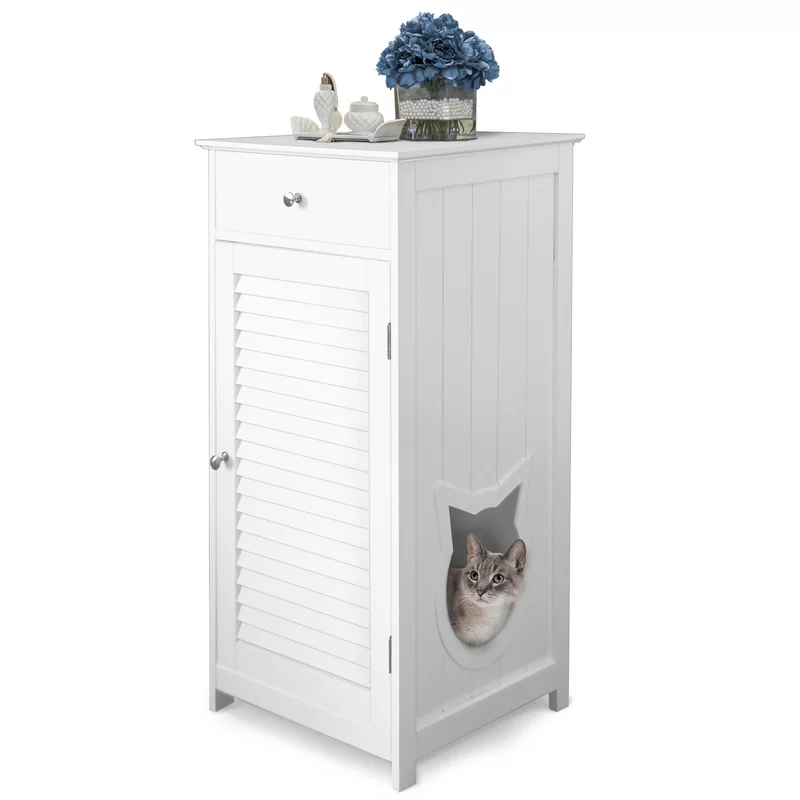 Tucker Murphy Pet Plotkin Cat Walk and Pet House Litter Box Enclosure & Reviews | Wayfair