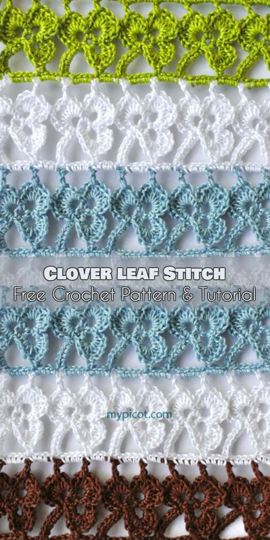 Clover Leaf Stitch Free Crochet Pattern And Tutorial Crochet