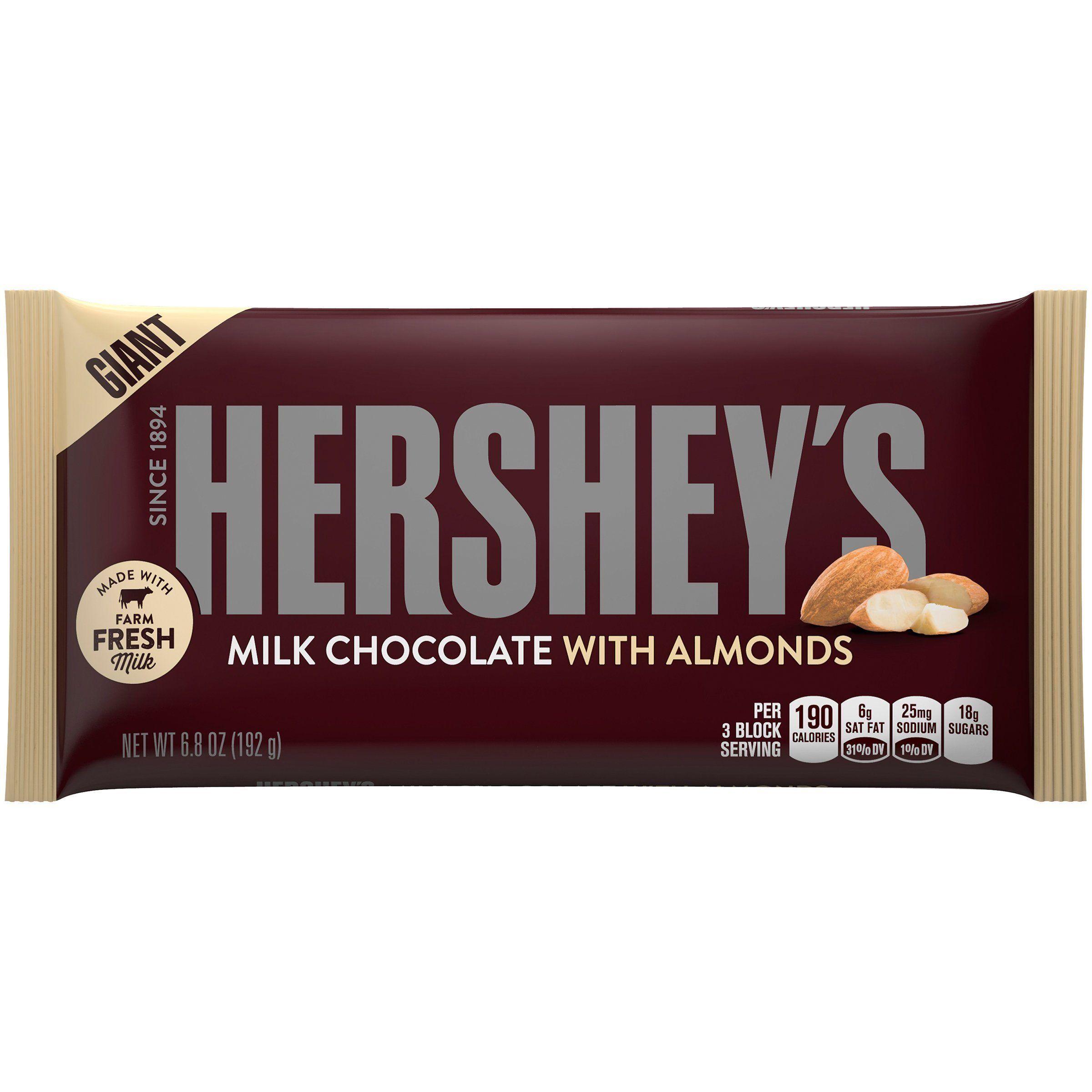 Hershey S Giant Milk Chocolate With Almonds F Cute Art Love