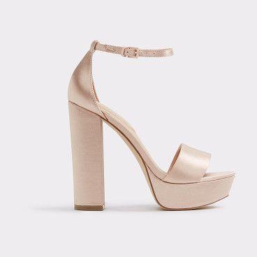 Discount Aldo Khaki Nesida Block Heels for Women On Sale
