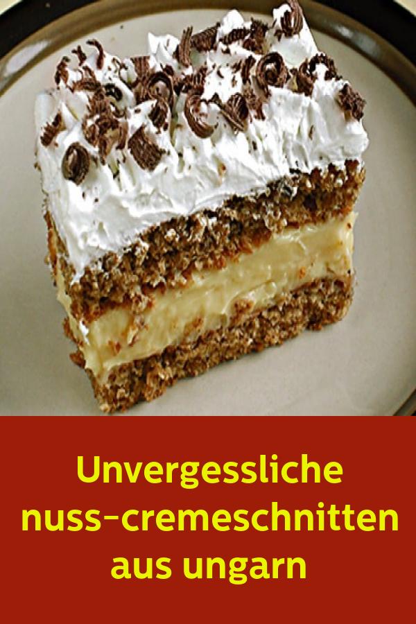 Unvergessliche nuss-cremeschnitten aus ungarn #kuchenundtorten
