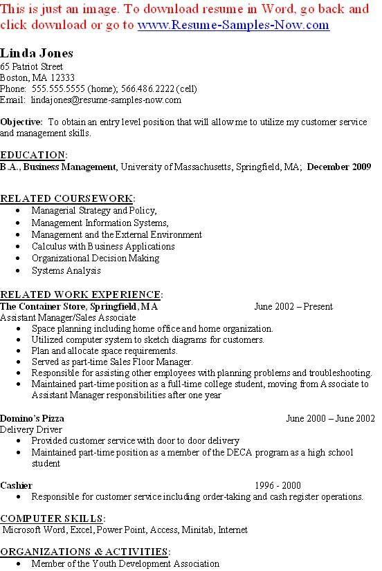 Bookkeeper Resume Entry Levelcareer Resume Template Career Resume Template