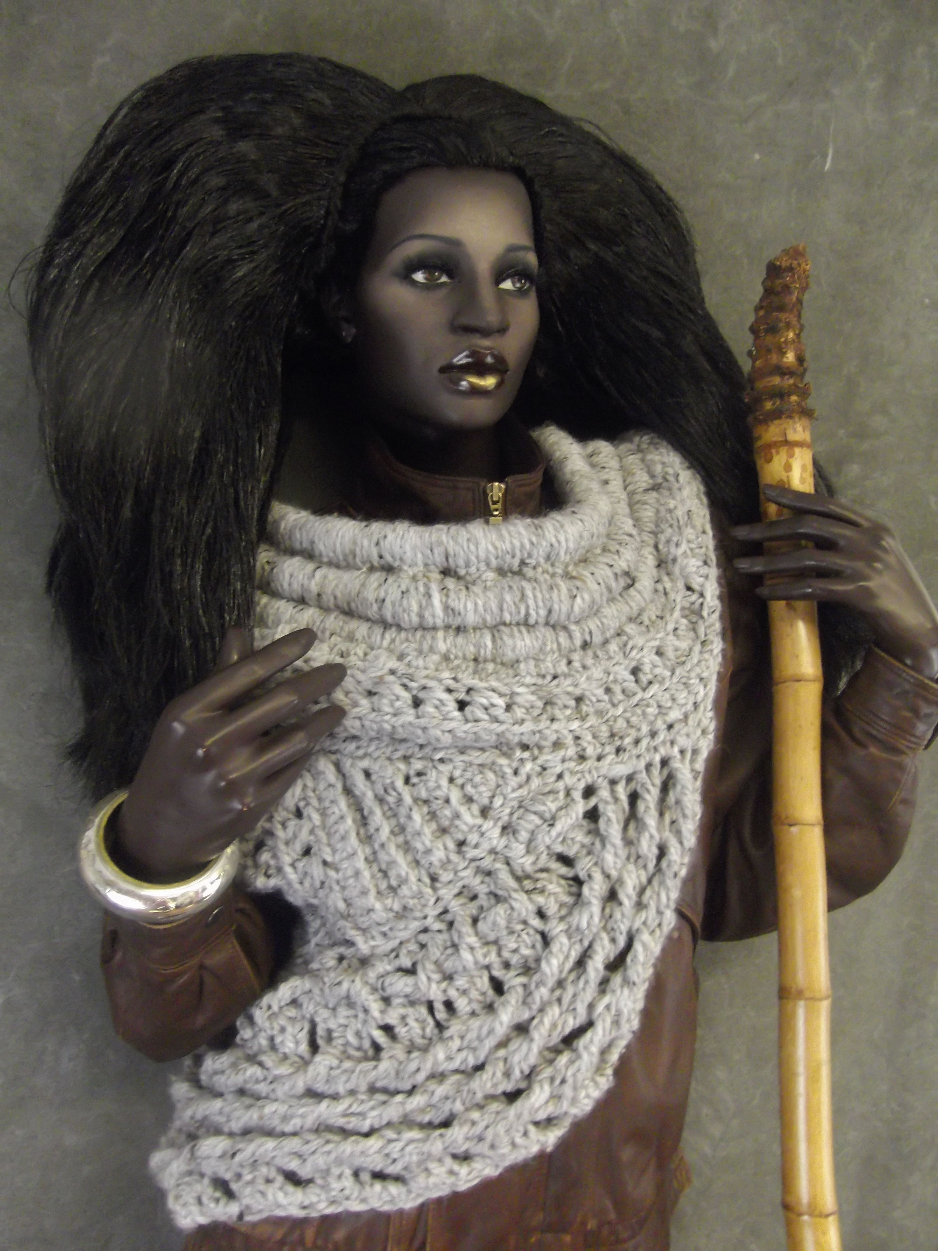 Katniss Cowl Original Crochet Free Form Design Adapted From The