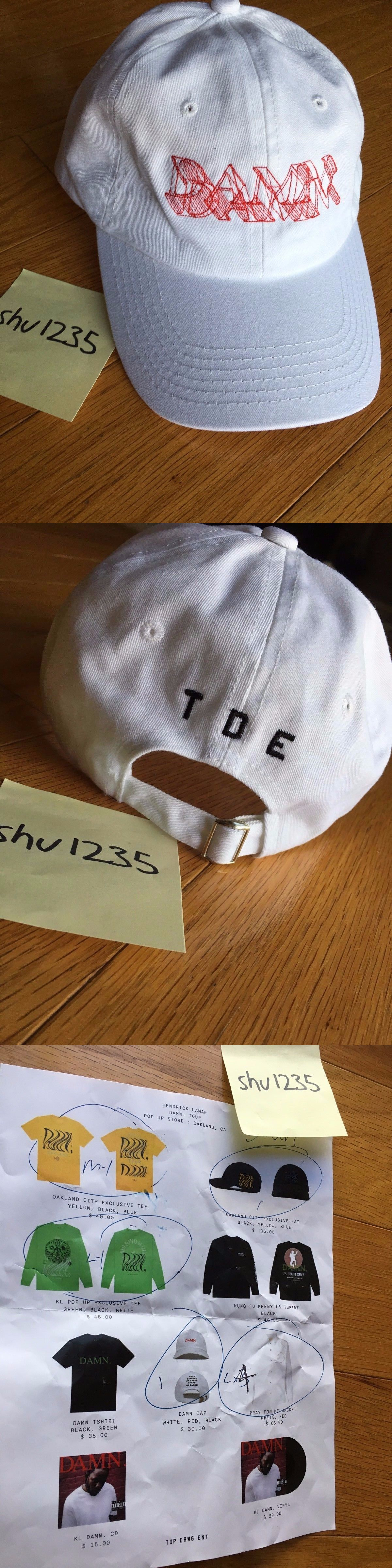 bca724b3faa Hats 163543  Kendrick Lamar Pop Up Exclusive White Red 3D Damn Tour Hat Dad  Cap Tde -  BUY IT NOW ONLY   85 on eBay!