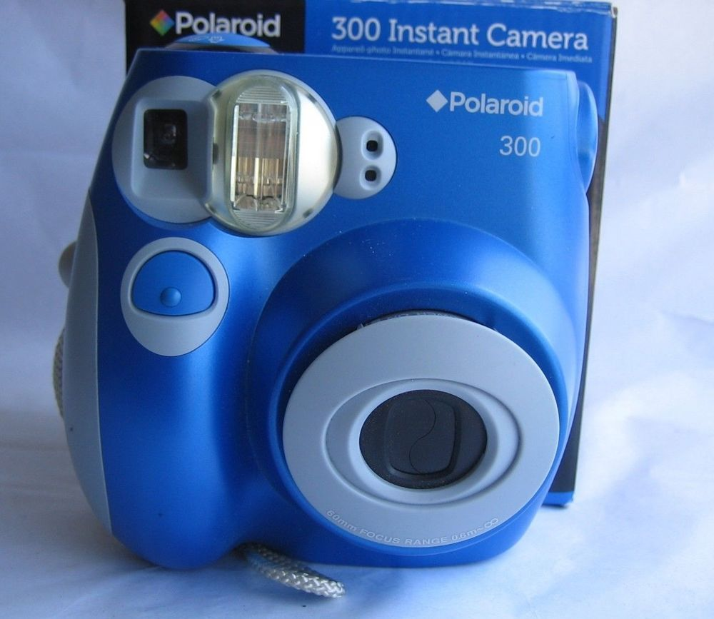 $55 95 Blue Polaroid 300 Instant Camera in Original Box