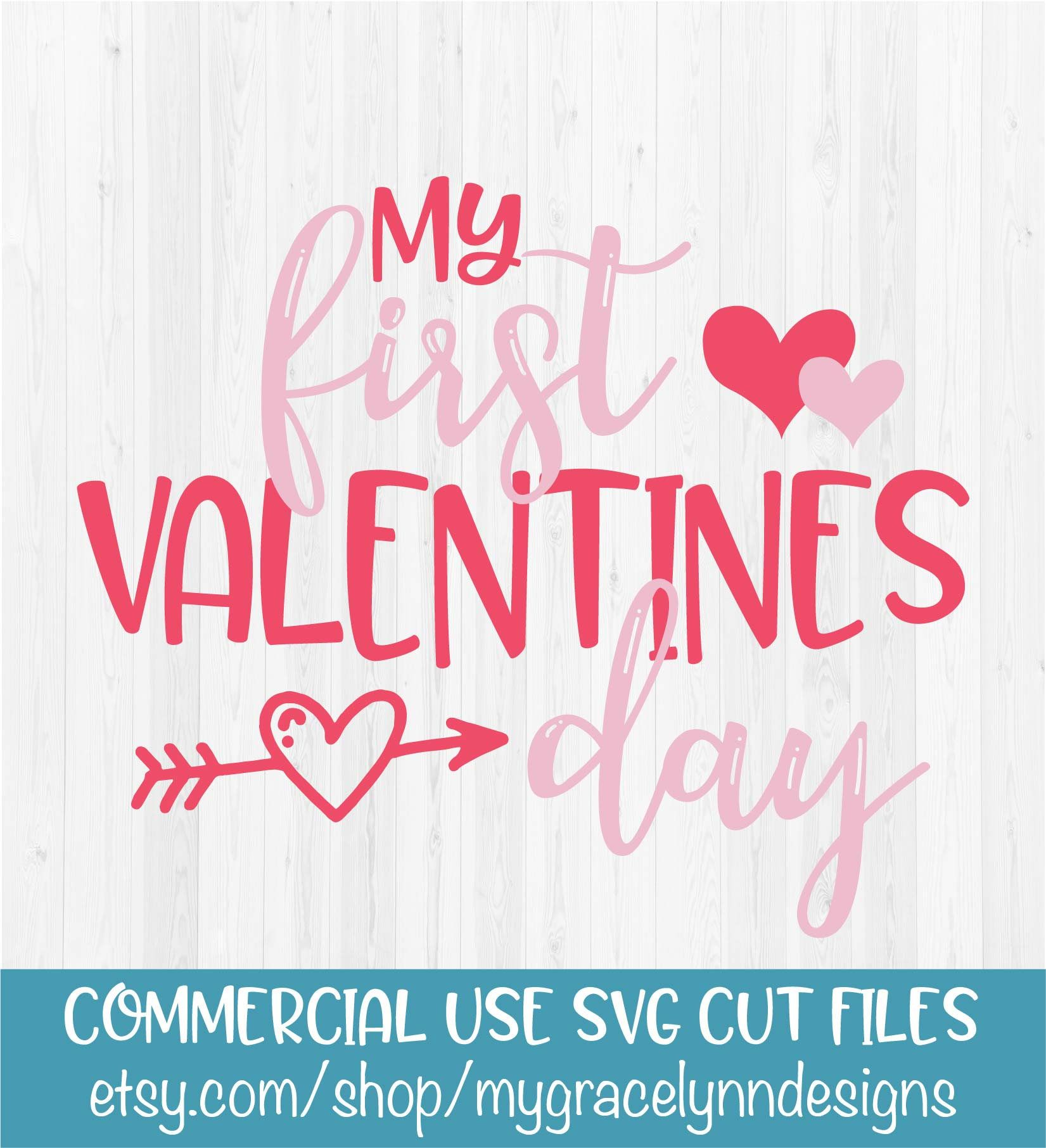 Valentine/'s SVG Files for Cricut Design Space SVG Files for Silhouette DXF for Cricut Scrapbooking Printable Transfer Commercial Use Clipart