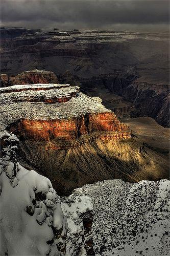 Snow at Grand Canyon National Park, Arizona