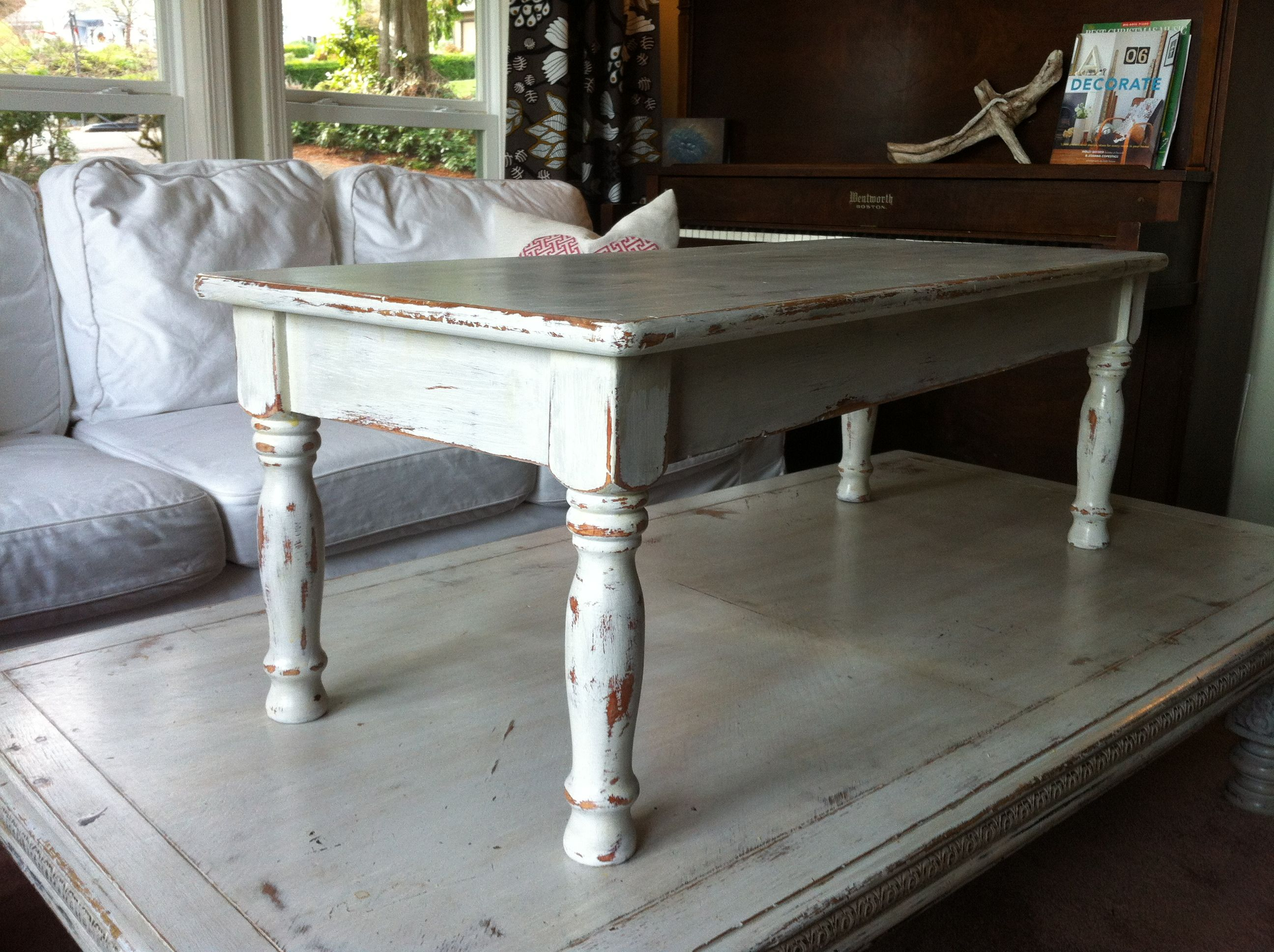 Distressed White Coffee Table Valley Vintage Market For