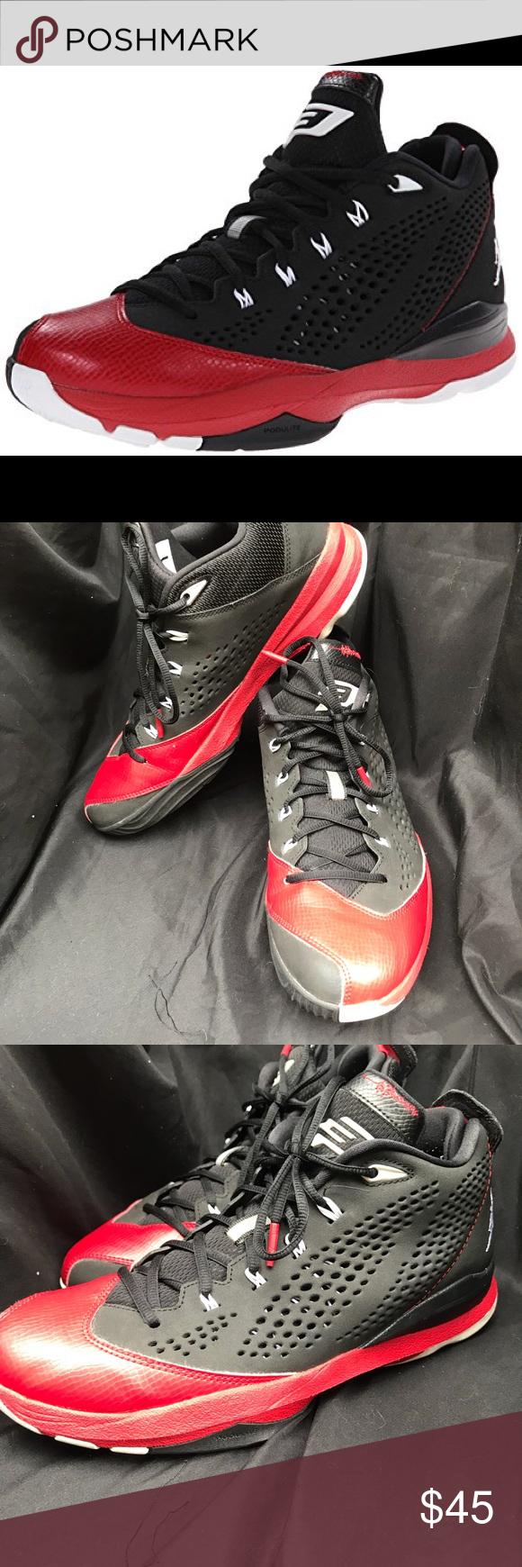 747401fad4ac04 Nike Chris Paul Jordan Basketball shoes! Worn once Nike air Jordan Chris  Paul VII Black White Red Basketball Shoes! Worn once. No visible signs of  wear.