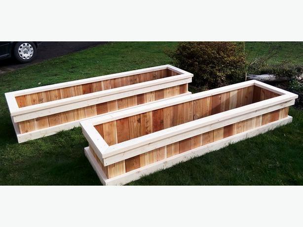 New look custom fir/cedar garden beds