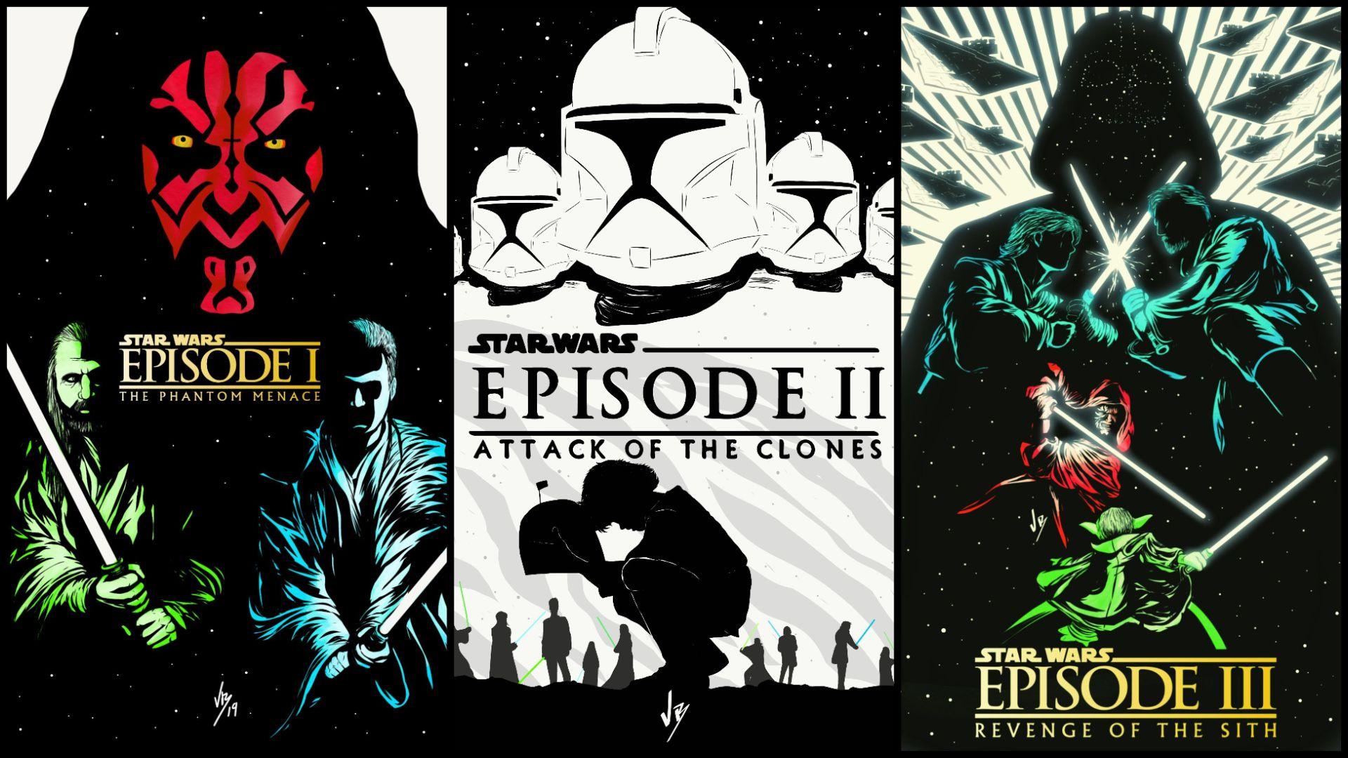 19201080 Star Wars Prequel Trilogy Art By Vicbwolf In 2020 Star Wars Active Wallpaper Star Wars Episodes